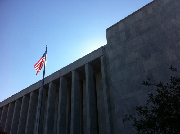 Old Glory on Independence Avenue