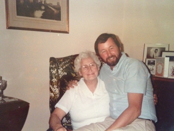 Dad with his mother, Josephine Collins, circa 1985.