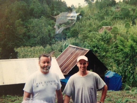 Dad and I at a Build Session for From Houses to Homes in Pastores, Guatemala, 2009.